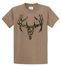 Deer Skull Camo Graphic Tees Reg and Big and Tall Size 100% cotton Port & Co