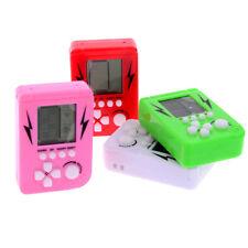 Mini Brick Game Tetris Children handheld game console Electronic Toys E&F