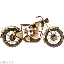 Vintage Indian Motorcycle Rustic Metal Wall Art Classic Black and Silver Harley