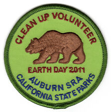 Auburn SRA - California State Parks -  Earth Day 2011 Award - Volunteer Patch