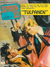 Vintage Rare 1969 No.4 Spion 13 Tulpanen (Spy 13 TheTulip) Comic Book In Swedish