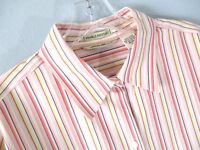 Tommy Hilfiger Women's Size 12 Long Sleeve 100% Cotton Button-Front Blouse