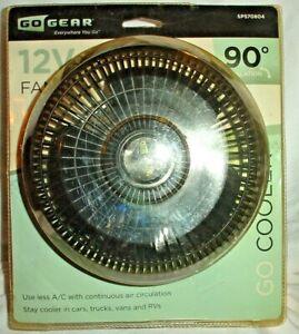 Oscillating Fan 12 Volt Go Gear SP570804 90 degree