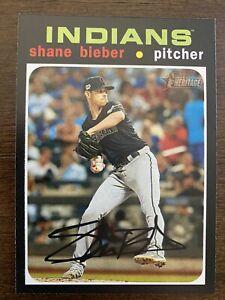 2020 Topps Heritage Shane Bieber Action SP - #454 Cleveland Indians