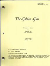 "THE GOLDEN GIRLS script ""Before and After"""