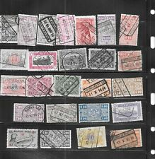 Belgium Belgian Back Of The Book 25 Different Used Stamp Lot Collection
