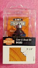 "Cmt Contractor Tools, 84103, Cove & Bead Router Bit, 1/4"" Shank, 1/8"" Radius"