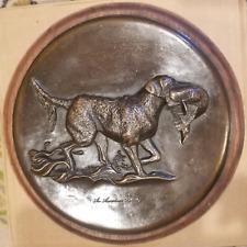 Bronze plaque of Chesapeake Bay Retriever