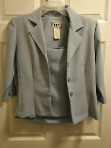DBY Ltd. Women's JR Light Blue 2 Piece Pleated Skirt Suit Set Size 3