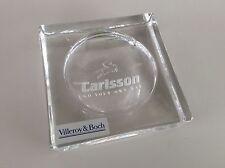 😃 Rarität Original Carlsson Tuning massiver Glass Aschenbecher Villeroy & Boch