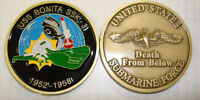 NAVY SUBMARINE USS BONITA  SSK-31 MILITARY DEATH FROM BELOW  CHALLENGE COIN