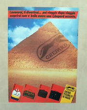 E104 - Advertising Pubblicità - 1987 - GHEPARD PERSONALITA' DA VIAGGIO