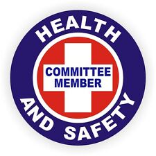 Health and Safety Committee Member Hard Hat Decal / Helmet Sticker Label Badge