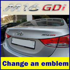M16 Gdi Emblem Elantra Hyundai Avante Genuine Trunk Logo Korea Parts Chrome Rear