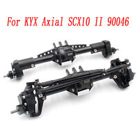 Metal Front & Rear High Lift Portal Axle Set for KYX Axial SCX10 II 90046 Parts