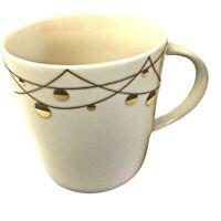 Starbucks Barista Coffee Mug Cup White Gold 16 FL OZ 2012 Christmas