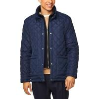 Cole Haan Mens Navy Winter Quilted Warm Coat Outerwear M BHFO 5497