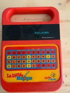 VINTAGE LA,DICTÉE MAGIQUE TEXAS INSTRUMENT TI1981 SPEAK & SPEN