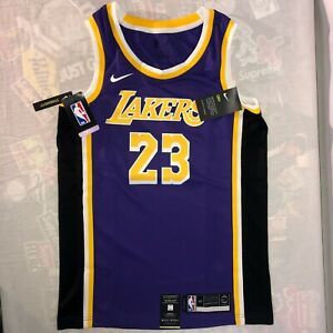 NEW Nike LeBron James Los Angeles Lakers Purple Jersey Sz Small Dri-Fit Swingman