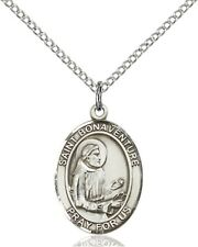 Sterling Silver Saint Bonaventure Medal Pendant, 3/4 Inch