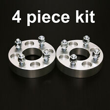 """4pc 1.25"""" Adapter Spacers - allows 4x4.5 Cars to use 4x100 Wheels - 12x1.5 Studs"""