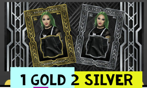 Topps WWE Slam Digital  SHOTZI RELIC SERIES 1 GOLD AND 2 SILVER
