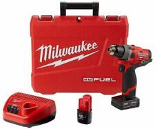 """MILWAUKEE 2504-22 M12 FUEL 12V 1/2"""" Brushless Hammer Drill Driver Kit"""