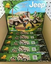 6pc CASE of COBI Army Willys JEEP Mortar + Military Figure Building Bricks 24190