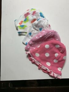 Gerber Girl 5 Hats Size NB; Baby 5-8 lbs Different Colors