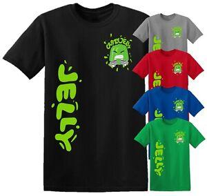 Crazy Jelly Merch Youtuber Kids T-Shirt Gamer Tee Top Boy Girl Birthday Gift