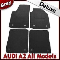 Audi A2 2000-2005 Tailored LUXURY 1300g Carpet Car Floor Mats GREY