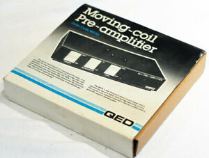 QED MCA.1 moving coil phono pre amplifier. Boxed.