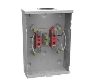 Milbank 125 Amp 4 Terminal Ringless Overhead/Underground Meter Socket, Brand NEW