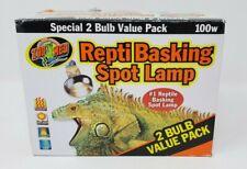 New listing Repti Basking Spot 100 W Watt Reptile Terrarium Light 2 Bulb Value Pack openbox