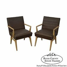 Mid Century Modern Pair of Russel Wright Design Lounge Arm Chairs (B)