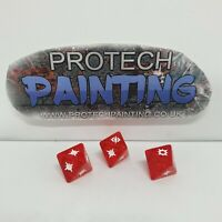 Star Wars Legion - Promo Dice Set - 3x Red Attack Dice (Clear)