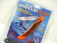 Havalon 115BLAZE Orange Baracuta Blaze Folding Knife + Sheath + 5 Blades