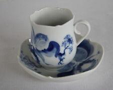 Meissen   Mokkatasse   Espresso  Große blaue Orchidee 1.Wahl