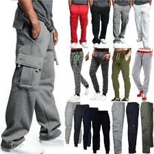 Men Cargo Pants Joggers Gym Sport Sweatpants Workout Jogging Casual Trousers US
