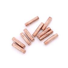10pcs Gas Nozzle Gold 15AK-0.8mm Mig Mag Welding Weld Torch Contact Tips  EevA