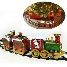 Bakaji Trenino Natalizio con Doni di Babbo Natale Decorazione Base Albero a Batteria - Multicolore (02053181)