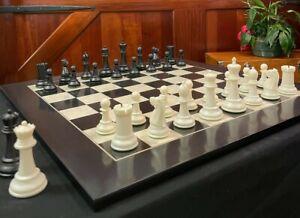 Marshall Series Chess Set - Weighted Plastic - 3.75 King - Black & White