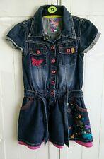 Butterfly Matthew Williamson Denim  Embroidered Dress 4-5 Years