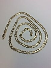 """Solid 14k Gold Figaro Link Chain 24"""" Necklace 5mm 21.3 grams"""
