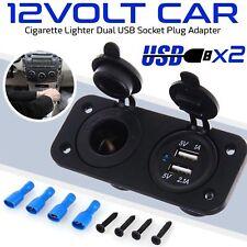 12V Car Boat Caravan Dual USB Cigarette Lighter Socket Splitter Charger Adapter