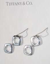 Tiffany & Co Sterling Silver Cushion Drop Earrings
