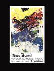Rare Authentic vintage lithograph Sam Francis poster 1986-1987.