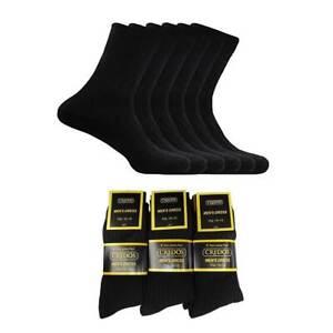 6~12 Lot Pairs Men's Classics Plain Black Cotton Dress Ribbed Socks 9-11 10-13