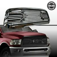 10-17 Dodge RAM 2500+3500 Front Chrome Black Big Horn Replacement Grille+Shell