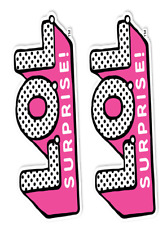"""Edible 2 x LoL SURPRISE DOLLS """"LOGO""""   Birthday Party Icing Cake Topper"""